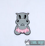 Twilla the Twatopotamus 4x4 machine embroidery design