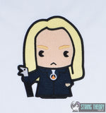 Spell Academy Chibi Evil Blonde Magician  5x7 machine embroidery design
