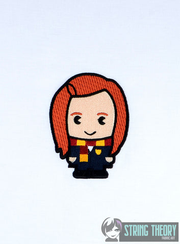 Spell Academy Chibi Red Haired Girl Student 4x4 machine embroidery design