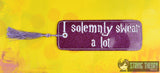 I solemnly swear a lot traditional book mark 2ITH 5x7 machine embroidery design