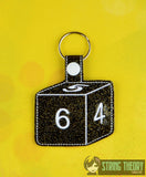 D6 snap tab key fob ITH machine embroidery design