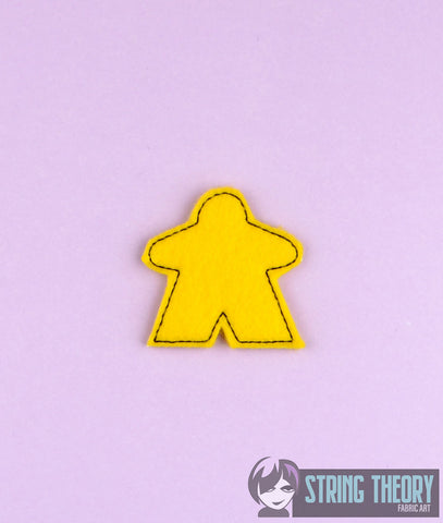 Simple Meeple 4ITH feltie 4x4 machine embroidery design