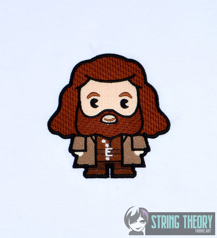 Harry Potter Chibi Hagrid 4x4 machine embroidery design