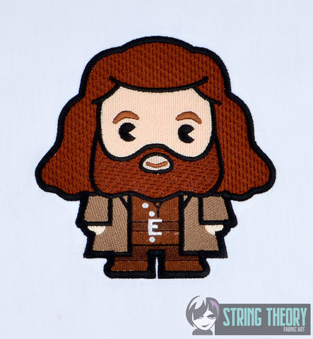 Harry Potter Chibi Hagrid 5x7 machine embroidery design