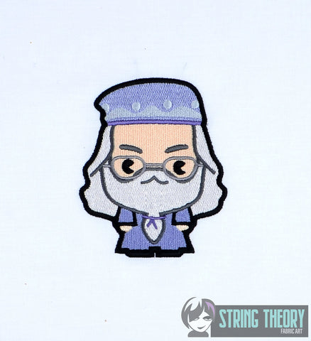 Spell Academy Chibi Good Headmaster 4x4 machine embroidery design