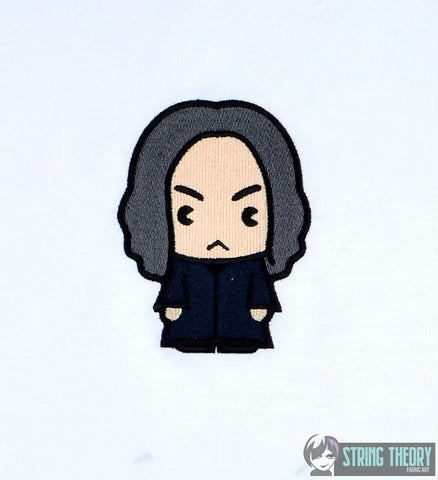 Harry Potter Chibi Snape 4x4 machine embroidery design