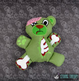 ZomBear stuffie 5x7 ITH machine embroidery design