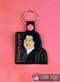 Supreme Court Women of SCotUS fob SET RBG SET snap tab key fob ITH 4x4 machine embroidery design