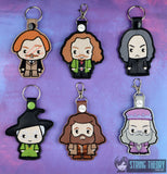 Spell Academy Chibi Set 2 Snap Tab Key Fob SET 6 patterns 4x4 machine embroidery designs