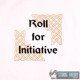 Roll for initiative 4x4 machine embroidery design