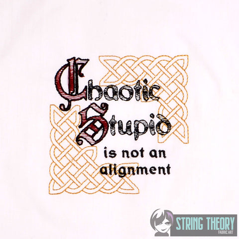 Chaotic Stupid LIGHT STITCH Dice Bag Bling 4x4 machine embroidery design