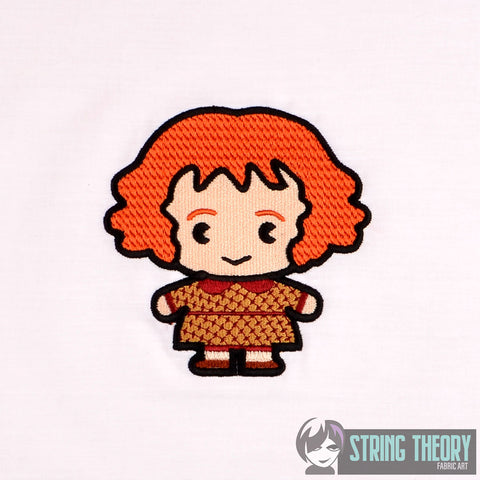 Spell Academy Chibi Red Haired Mom 4x4 machine embroidery design