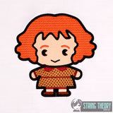 Spell Academy Chibi Red Haired Mom 5x7 machine embroidery design