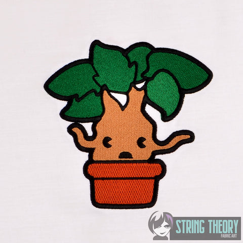 Spell Academy Chibi Yelling Plant  5x7 machine embroidery design