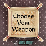 Dungeons and Dragons Things DnD players know dice tray SET FIVE sizes ITH machine embroidery design