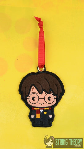 Spell Academy Chibi Glasses Boy ornament ITH machine embroidery design 4x4