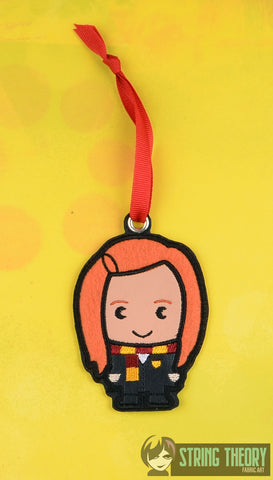Spell Academy Chibi Red Haired Girl Student ornament ITH machine embroidery design 4x4