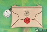 Spell Academy Letter zip bag SET with optional back panel ITH with Owl dangle