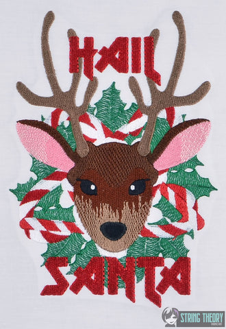Hail Santa 6x10 machine embroidery design