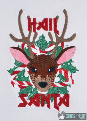 Hail Santa 5x7 machine embroidery design