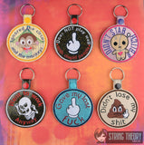 Adult Merit Badge 2 Series 6 PATTERN SET key fob snap tab ITH embroidery pattern 4x4