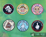 Adult Merit Badge Series 2 SET 6 PATTERNS Badge/Patch/Appliqué 4x4 embroidery pattern
