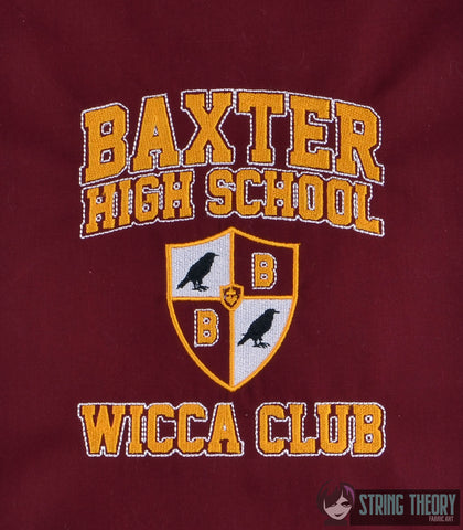 Teen Witch Baxter High School Wicca Club 5x7 machine embroidery design