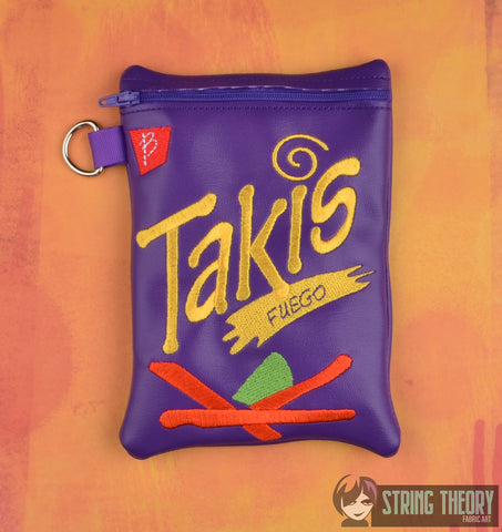 Takis zip bag ITH 5x7 machine embroidery design