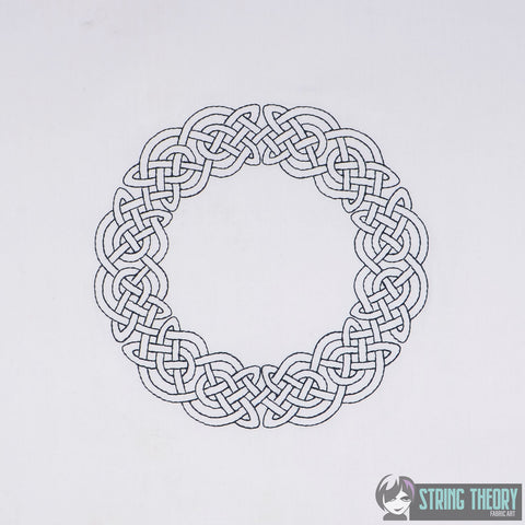 Celtic Circle knot frame 6x9 Machine Embroidery Design