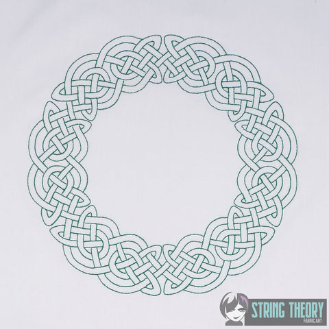 Celtic Circle knot frame 8x12 Machine Embroidery Design