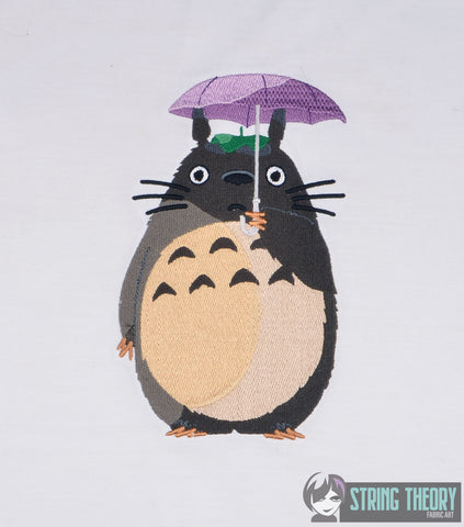 Totoro 5x7 machine embroidery design