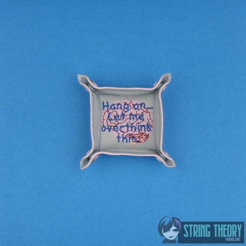 Hang on ... let me overthink this portable dice tray 4x4 & 5x7 ITH machine embroidery design
