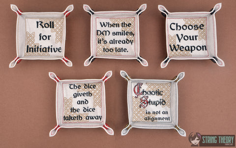 Dungeons and Dragons Things DnD players know dice tray SET 5x7 ITH machine embroidery design
