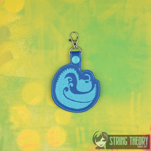 How to Train Your Dragon Tidal key fob snap tab ITH embroidery pattern 4x4