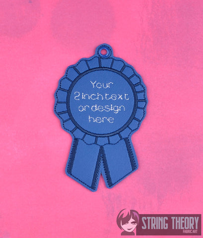 Blank Award Ribbon ITH 4x4 Machine Embroidery Design