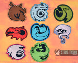 How to Train Your Dragon SET EIGHT DIFFERENT Badge/Patch/Appliqué 4x4 embroidery pattern