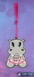 Twilla the Twatopotamus traditional bookmark 2ITH 5x7 machine embroidery design