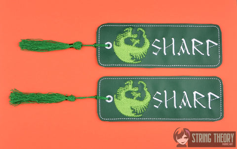 How to Train Your Dragon Sharp traditional bookmark 2ITH 5x7 machine embroidery design