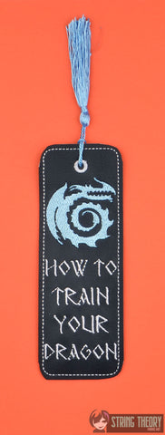 How to Train Your Dragon Symbol traditional bookmark 2ITH 5x7 machine embroidery design