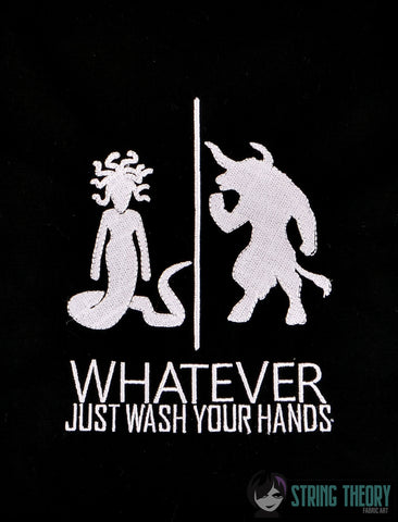 Medusa Minotaur Whatever just wash your hands 5x7 machine embroidery design