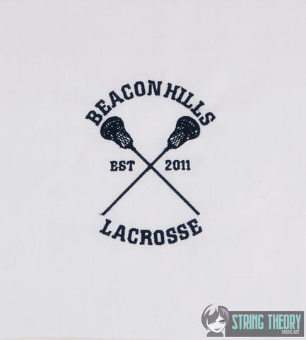 Adolescent Lupine High School Lacrosse 4x4 machine embroidery design