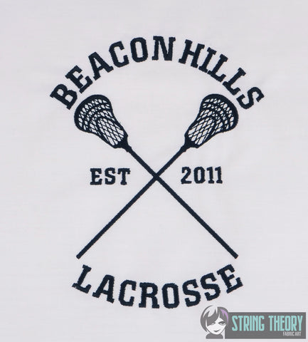 Adolescent Lupine High School Lacrosse 5x7 machine embroidery design