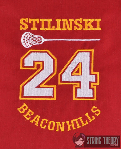 Adolescent Lupine Stilinski Jersey 5x7 machine embroidery design