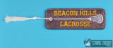 Adolescent Lupine High School Lacrosse traditional bookmark 2ITH 5x7 machine embroidery design