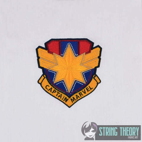 Captain Marvel Shield 4x4 Machine Embroidery Design