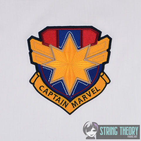 Captain Marvel Shield 5x7 Machine Embroidery Design