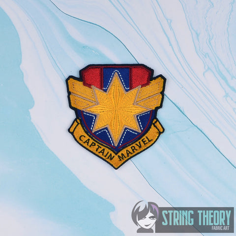Captain Marvel Shield Badge/Patch 4x4 embroidery pattern