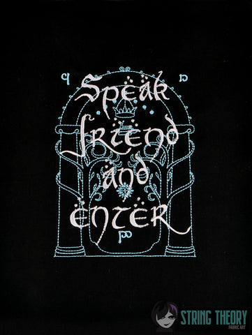 King of the Jewelry Doors of Durin Speak Friend and Enter 5x7 Machine Embroidery Design