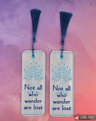 King of the Jewelry Tree of Gondor traditional bookmark 2ITH 5x7 machine embroidery design