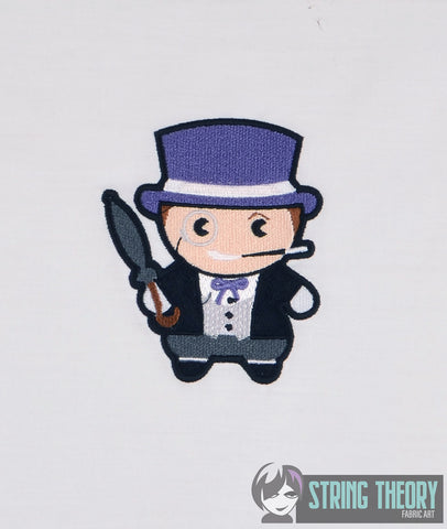 Chibi Tuxedo Villain 4x4 machine embroidery design